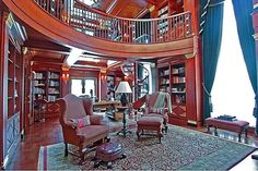 2 story library with wonderful light