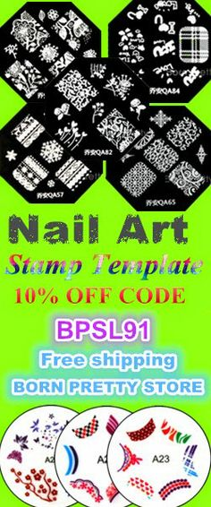 Stamp Template for FREE ♥  http://bornprettystore.blogspot.com/2014/05/how-to-get-nail-art-stamp-template-for.html