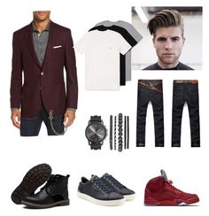 """Indra's semi formal look"" by arini-lioni on Polyvore featuring BOSS Hugo Boss, Dolce&Gabbana, NIKE, Dsquared2, AllSaints, men's fashion and menswear"