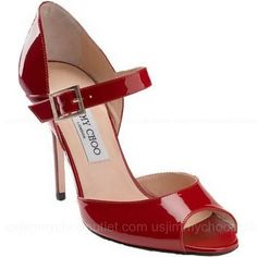 Jimmy Choo Lace Mary Jane Pumps Red