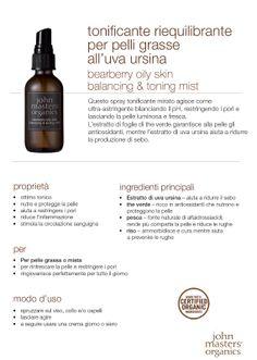 Tonificante riequilibrante per pelli grasse all'uva ursina