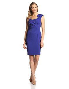 Calvin Klein Women's  Cap Sleeve Side Rouched Sheath Dress, Byzantine, 2 Calvin Klein http://www.amazon.com/dp/B00LMYI0WI/ref=cm_sw_r_pi_dp_urZkvb0XFG85C