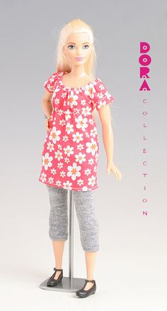Barbie clothes for curvy barbie, 2piece leisure set