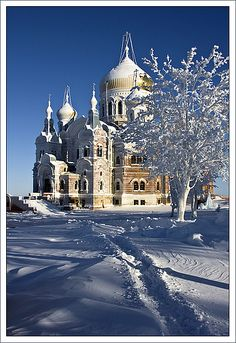 Winter in Russia Russian Architecture, Church Architecture, Religious Architecture, Architecture Photo, Beautiful Architecture, Cathedral Basilica, Gothic Cathedral, Cathedral Church, Beautiful Castles