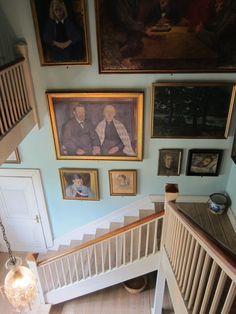 Hall from above, artists home, Johannes Larsen Museet Kerteminde Denmark