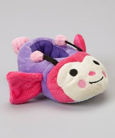 Take a look at this Fuchsia Butterfly Plush Slipper by Chatties on #zulily today!