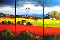 Paul Schöne :: My Paintings :: Landscape paintings with energetic colours depicting the absolute beauty of South Africa and its contrast Abstract Canvas Art, Abstract Landscape Painting, Landscape Paintings, Poppy Flower Painting, Acrilic Paintings, African Paintings, South African Artists, Encaustic Art, Landscape Pictures