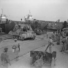 Reggio, 3 September 1943 (Operation Baytown): Armoured vehicles come ashore near Reggio. Italian Campaign, Reggio Calabria, Landing Craft, Ww2 Tanks, Armored Vehicles, Sicily, Wwii, Paris Skyline, Mount Rushmore