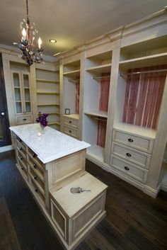 Corner shelves...closet/dressing room ideas