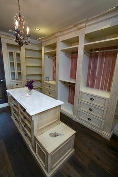 Corner shelves...closet/dressing room ideas