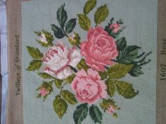 A rose tapestry. Perfect for a cushion.