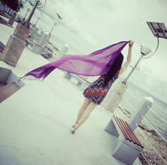Purple at beach Cute Girl Poses, Cute Girls, Alone Life, Dreamy Photography, Poses For Photos, Only Girl, Girls Dpz, Color Of Life, Girl Fashion