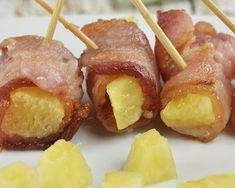Mini brochettes ananas bacon