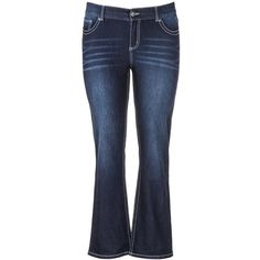 maurices Plus Size - Denim Flex ™ Supersoft Slim Boot Jeans ($39) ❤ liked on Polyvore