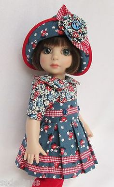 """OOAK PATSY'S BLUES (w/SHOES)! FOR 10"""" ANN ESTELLE, ETC. MADE BY SSDESIGNS"""