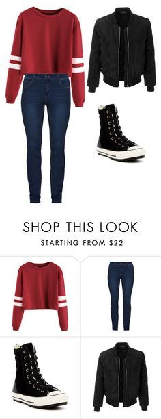 """""""Untitled #155"""" by mayalovescoffee on Polyvore featuring Converse and LE3NO"""