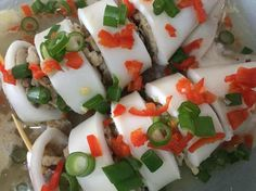Steam Sotong with Minced Chicken Recipe