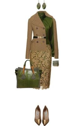 i dislike green but love this outfit Classy Outfits, Beautiful Outfits, Fall Outfits, Cute Outfits, Fashion Outfits, Womens Fashion, Fashion Trends, Cheap Fashion, Work Fashion