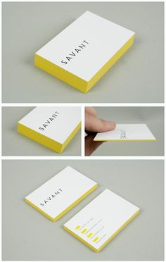Minimal. Coloured edge business cards.