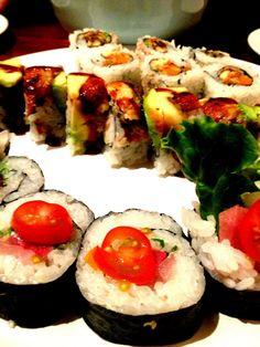 Salmon Skin Roll, Dragon Roll, Ceviche Roll