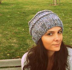 Grey knitted hat,handmade beanie,women hat,men hat,slouchy beanie,winter accessoires,2013 model. $21.00, via Etsy.