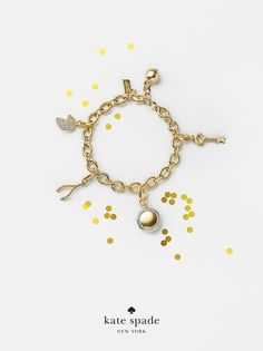 holiday gifts under $100. because she's your good luck charm. featuring key charm, locket charm, wishbone charm and lucky cookie charm. #getgifted
