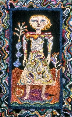 Rug Hooking . . . beautiful . . . Dress for a Journey by woods and water (Ann Willey), via Flickr