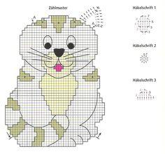 Chat Crochet, Crochet Motifs, Crochet Potholders, Crochet Cushions, Crochet Home, Filet Crochet, Crochet Patterns, Crochet Hot Pads, Crochet Gloves