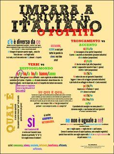 impara a scrivere in italiano o fottiti