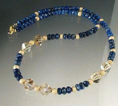 Blue & gold necklace - Pretty!