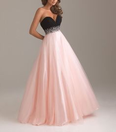 Sweetheart Beading Crystal Floor Lenght Tulle Evening Dress pink