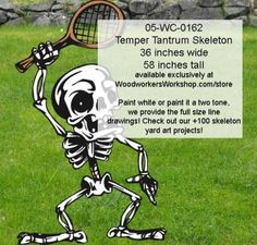 05-WC-0162 - Temper Tantrum Skeleton Yard Art Woodworking Pattern
