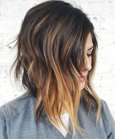 Layered Inverted Cut for Thick Hair