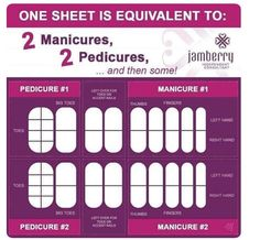 Jamberry Nail Wraps are the way to get beautiful nails at a fraction of the cost! In each sheet you get 2 mainucures, 2 pedicures, plus left overs! That definitely beats going to the salon. Uñas Jamberry, Jamberry Nails Tips, Jamberry Nails Consultant, Jamberry Party, Jamberry Nail Wraps, Nail Manicure, Toe Nails, Nail Tips, Jamberry Application