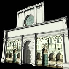 reconstruction of facade of Santa Maria Novella