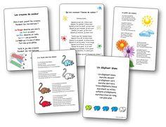 Chansons, comptines et poésies pour apprendre les couleurs