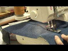 Jeans seams with a coverstitch