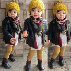 Little Girl Outfits Little Girl Outfits, Cute Outfits For Kids, Little Girl Fashion, Toddler Fashion, Toddler Outfits, Cute Kids, Cute Babies, Kids Fashion, Trendy Kids