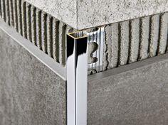 PROJOLLY SQUARE Chromed brass edge profile by PROGRESS PROFILES