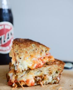 spicy mini meatball grilled cheese I howsweeteats.com