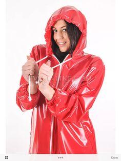 Pink Raincoat, Plastic Raincoat, Red Jelly, Rainy Day Fashion, Rain Wear, Kinky, Sexy, Hoods, Rain Jacket