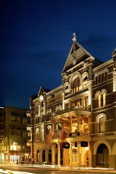 One of the most elegant places to get away in Texas. The Driskill Hotel on 6th Street in Austin. It's absolutely stunning!