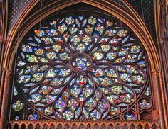 Sainte-Chapelle rose window - Paris