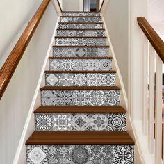 Escalier Décalcomanies Carreaux Portugais