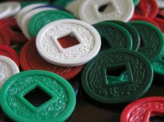 Plastic Chinese betting coins