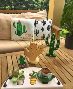 Things Carly likes Cactus Craft, Cactus Decor, Teen Room Decor, Bedroom Decor, Cactus Bedroom, Diy Home, Home Decor, Cacti And Succulents, Room Themes