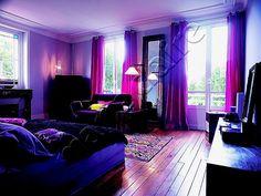 girls' purple bedroom decorating ideas @krysee mccaughey altrows