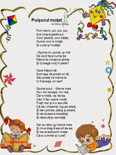 Materiale Didactice Printabile added a new photo to the album: Poezii despre animale si insecte. 4 Kids, Kids Education, Nursery Rhymes, Early Childhood, My Boys, Diy And Crafts, Language, Parenting, Rainbow