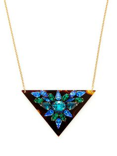 Sandy Hyun Triangle Pendant Necklace