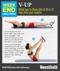 This Exercise Move Is ALL About Your Core http://www.womenshealthmag.com/fitness/weekend-challenge-v-up